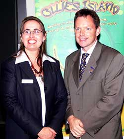 Jane Stewart (Ollie's Mum) with The Minister for Agriculture, The Honourable Robert Cameron
