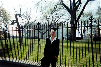 Jane in front of the White House